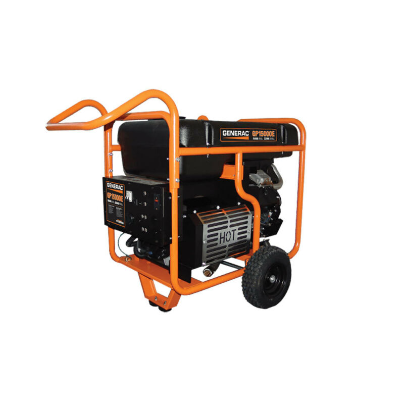 Generac 15000E 15,000 Watt Electric Start 992cc Gas Powered Portable Generator