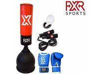 FXR SPORTS 5FT HEAVY DUTY FREE STANDING BOXING PUNCH BAG GLOVES MOUTH GUARD ROPE
