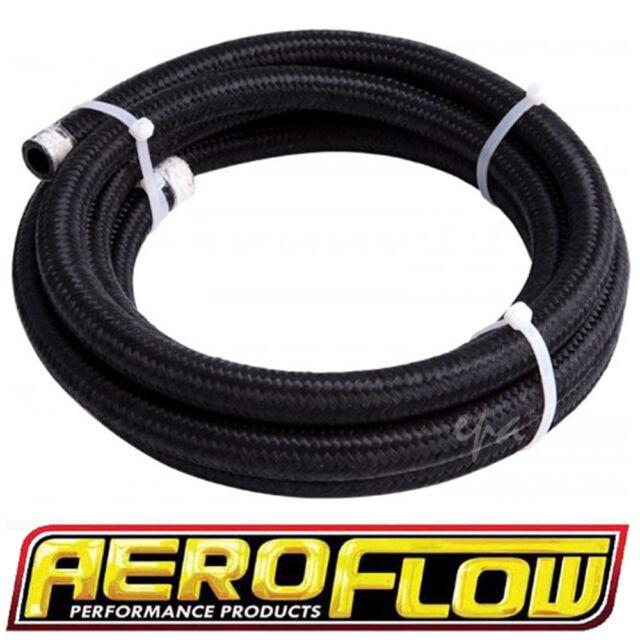 """AEROFLOW 450 SERIES BLACK BRAIDED LIGHT WEIGHT HOSE -9AN 1/2"""" X 1M AF450-09-1M"""