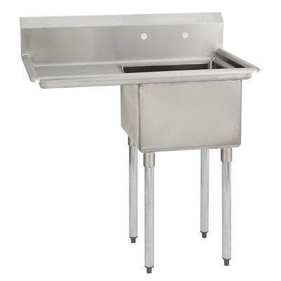 1 One Compartment Commercial Stainless Steel Prep Pot Sink 38.5 X 29.5
