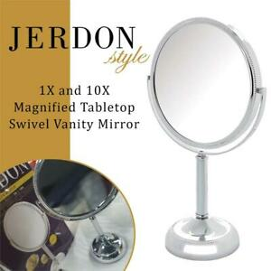 NEW Jerdon JP910CB 1X and 10X Magnified Tabletop Swivel Vanity Mirror, Chrome Beaded Finish, 23.2 Ounce Condtion: New...