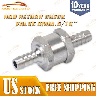 8mm Aluminium Fuel Non Return Check Valve One Way Inline Water Pipe Tube Hose Us