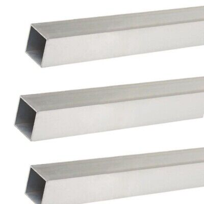 Square Hollow Aluminum Tubes 3-pack 732 O.d. X 1364 I.d. X 12 Long Mill