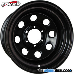 Dynamic Black Sunraysia Soft 8 Wheel Rim 16x8 6/139.7 -22 Nissan Patrol GU GQ