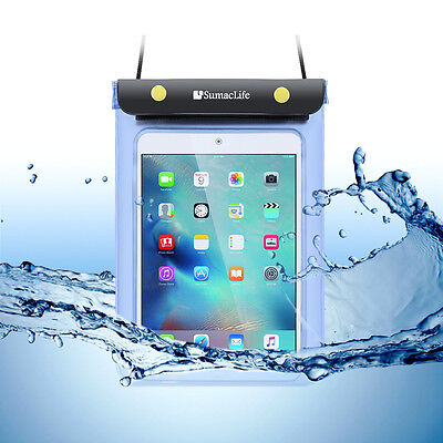 "8"" Tablet Waterproof Pouch Case For iPad Mini 4 2 Samsung Galaxy Tab E 8.0 T3777 for sale  Shipping to India"