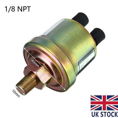 Oil Pressure Sensor Engine 1/8 NPT Oil Pressure Switch Gauge Sender Sending Unit