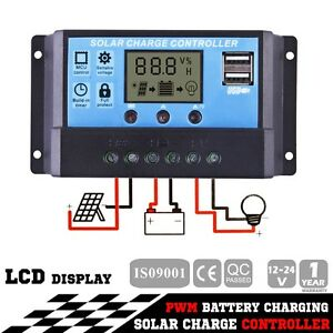 12V-24V 20A LCD Display PWM Solar Panel Regulator Charge Controll Hope Valley Tea Tree Gully Area Preview
