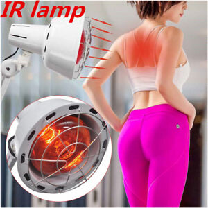 275W Infrared Therapy Heat Lamp Physiotherapy Body Health Pain Relief +Clip UPS