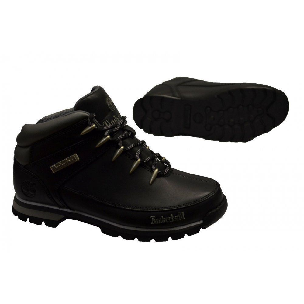 Timberland Kids Infant Boys Euro Sprint Hiker Casual Boots Black  (9780r)