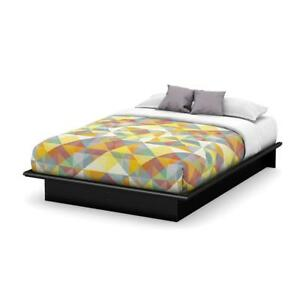 NEW South Shore Step One Collection Full Platform Bed, Pure Black Condition: New