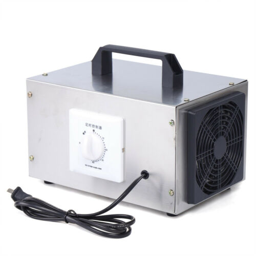 US Stock Ozone Generator Air Purifier Machine 5000mg//h Ozone Disinfection Machine w//Timing Switch for Home Indoor 110V