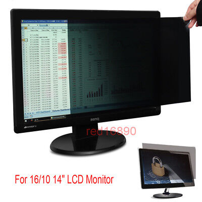 Privacy Protecer LCD Screen Filter For 16/10 14inch PC Computer Monitor Laptop