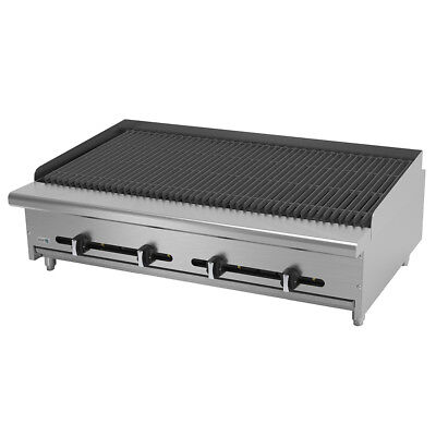 Asber Aecrb-48 48 Countertop Gas Char Rock Broiler