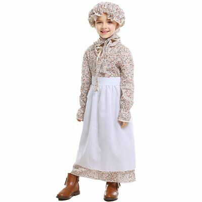 Halloween Costumes for Kids Fairy Tale Maid Cosplay Farmer Girl Costume