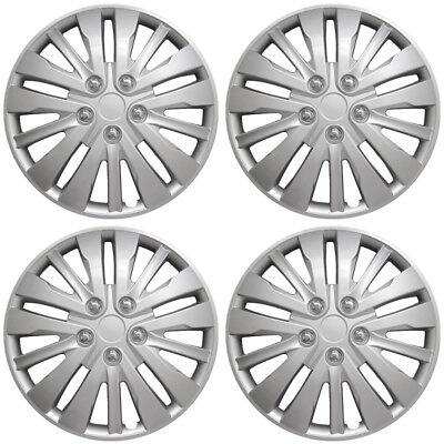 "4 Pc of 16"" Inch Silver Hub Caps Full Lug Skin Rim Cover for OEM Steel Wheel"