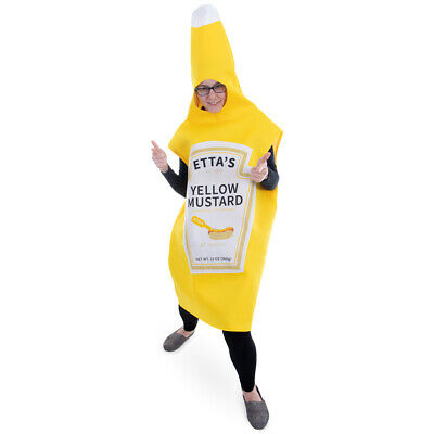 Yellow Mustard Halloween Costume | Classic Condiment Funny Food - Food Halloween