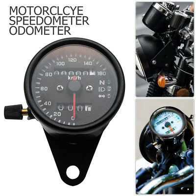 12V Universal Motorcycle Speedometer Tachometer Speedo Meter With LED Backlight