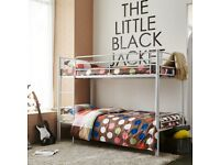 SALE ON FURNITURE-SINGLE METAL BUNK BED FRAME w 2 MEMORY FOAM MATTRESSES.CALL NOW