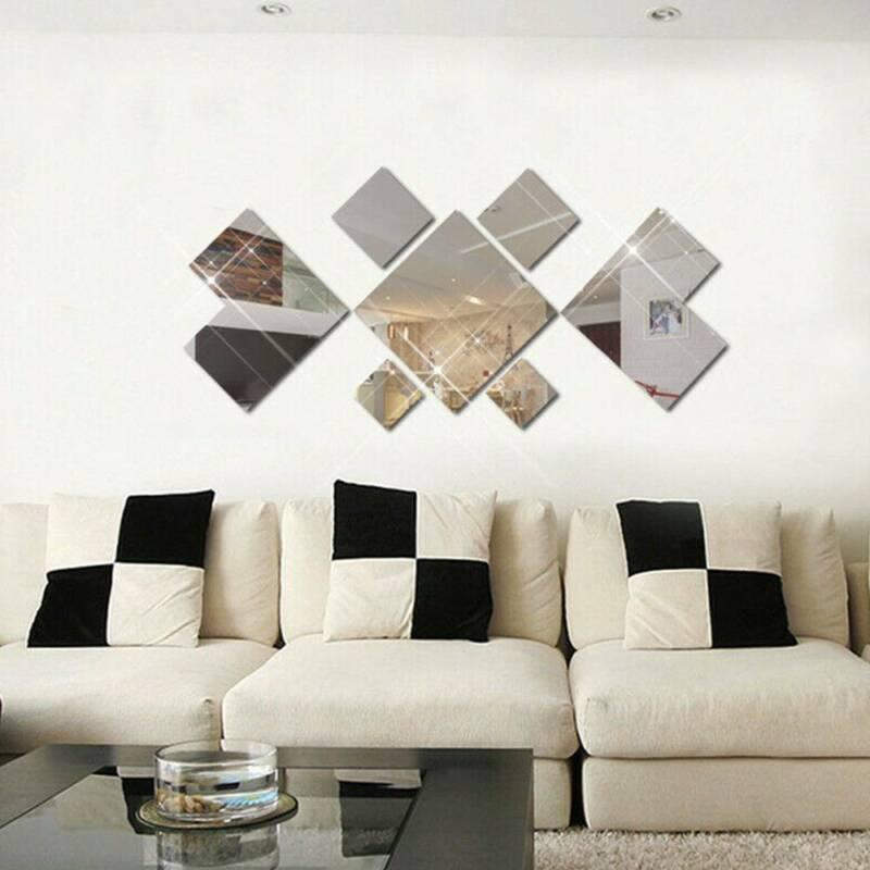 7pcs mirror wall stickers self adhesive reflective