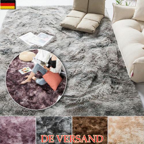 3cm Teppich Weich Kurz Shaggy Fellteppich Kunstfell Hochflor Mat Carpet Waschbar
