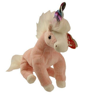 TY Beanie Baby - CHARMER the Pink Unicorn (7.5 inch) - MWMTs Stuffed Animal Toy