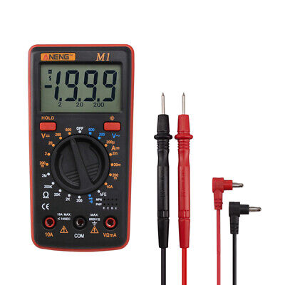 Aneng Lcd Display Digital Multimeter Acdc Voltagecurrentresistancencv Meter