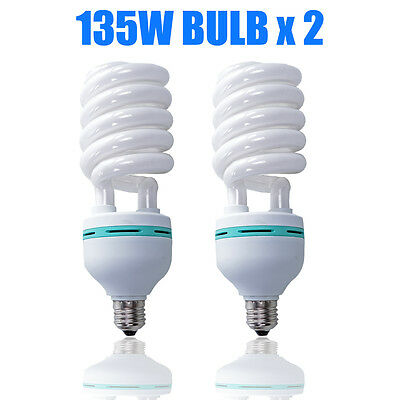 2X135W Photo Studio Light Daylight Lamp Bulb Continuous Lighting E27 220V 5500K