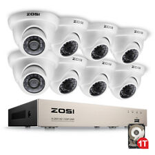 ZOSI 8CH HDMI 1080N DVR 1500TVL CCTV IR-Cut Dome Home Security Camera System 1TB