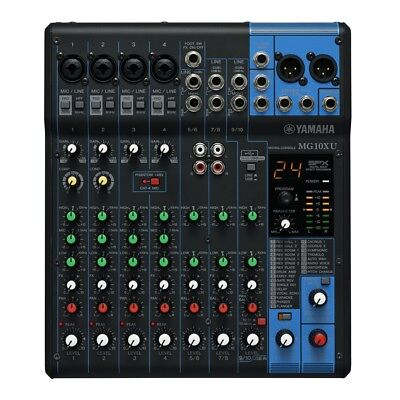 YAMAHA MG10XU mixer audio professionale 10 canali x effetti x studio live usato  Italia