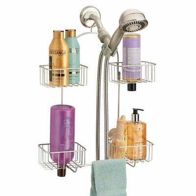 mDesign Metal Hanging Bath and Shower Caddy Organizer for Hand Held Shower