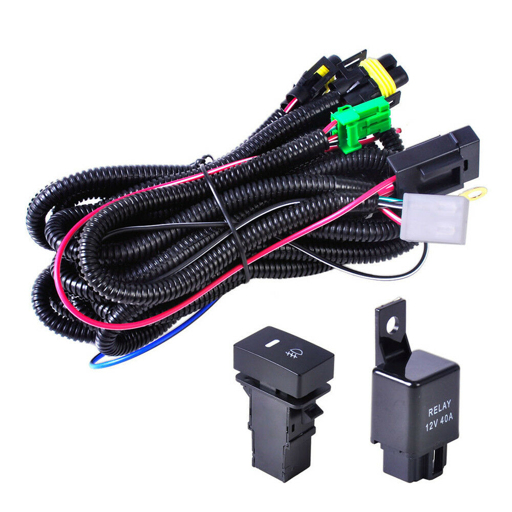 H11 Fog Light Wiring Harness Sockets Wire LED Indicators