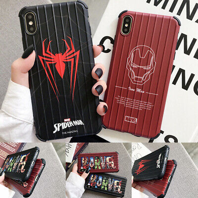 Marvel Superhero Spiderman Soft Phone Case Cover For iPhone11ProMax 6s 8Plus XR