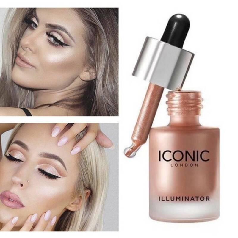 ICONIC Flüssiger Concealer Highlighter Makeup Shimmer Face Illuminator Oil Glow
