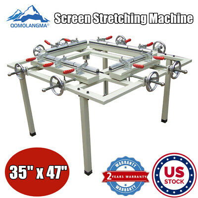 Us Stock Manual 35x47 Screen Stretching Machine Stretcher For Screen Printing