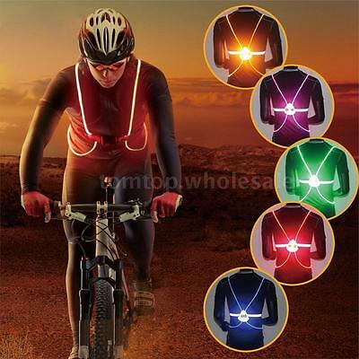 Illuminated Reflective Vest Belt LED Lights Safety Gear Outdoor Sporting C3F5