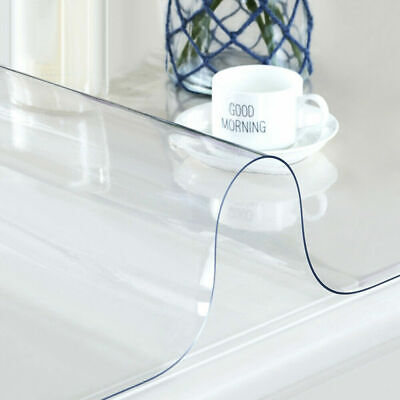 Clear Plastic Table Cover (Waterproof Clear Plastic Transparent PVC Tablecloth Protector Dining Table)