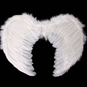 White Feather Angel Wings Christmas Halloween Fancy Dress Costume Hen Night