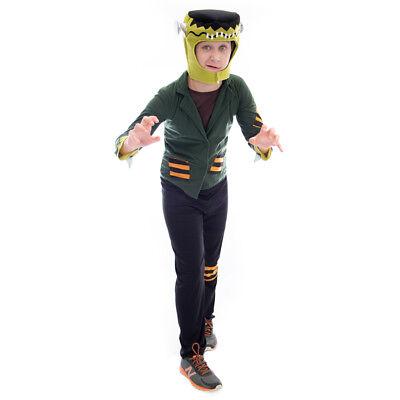 Flat-top Frankenstein Halloween Costume | Unisex Kids Monster Movie Suit