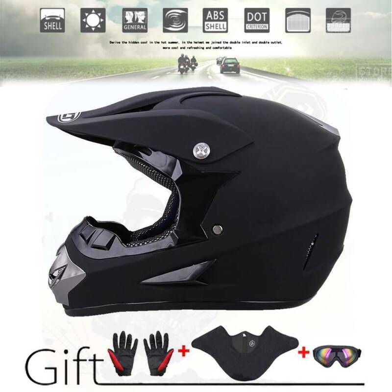 Motorcycle DOT Adult Youth Dirt Bike ATV Motocross Helmet Mask Gloves Goggles US