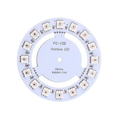 16 Pixel Rgb 5050 Led Ring Rainbow Ws2812b 5v Fc-102 For Arduino