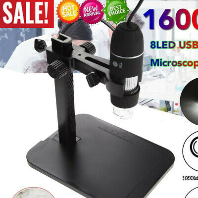 8led 1000x 10mp Usb Digital Microscope Endoscope Magnifier Camera Lift Stand