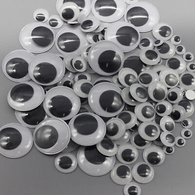 Googly Googly (100X New 6-35mm Googly Eyes Stick On Self-adhesive Stickers Wobbly Wiggly)