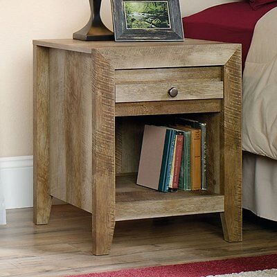 منضدة جانب السرير جديد Sauder 418176 Dakota Pass Night Stand Coa Craftsman Oak Finish NEW