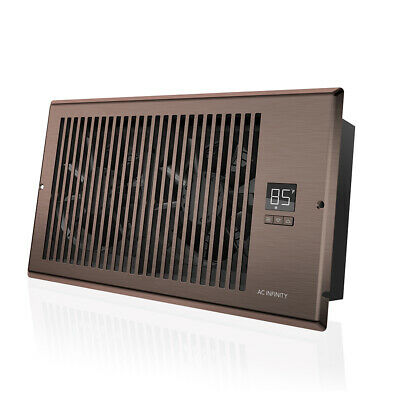 Airtap T6 Quiet Register Booster Fan Heating Cooling 6 X 12 Registers Brown