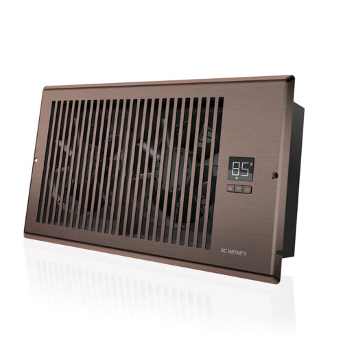 "AIRTAP T6, Quiet Register Booster Fan, Heating / Cooling 6 x 12"" Registers Brown"