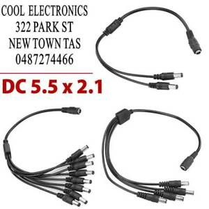 Power Splitter Cable Adapter 1 to 4//8 for CCTV Security Camera DC12V