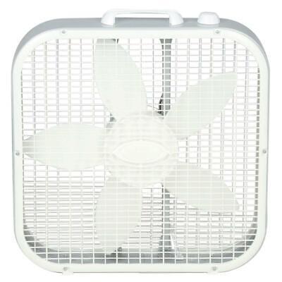 Lasko Box Fan 3-Speed 20 in. Indoor Compact Portable Energy