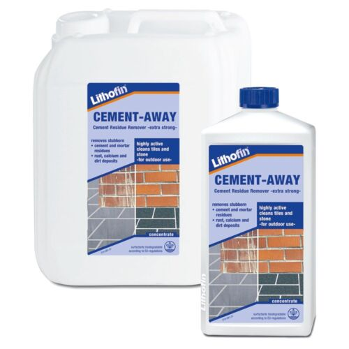 Lithofin cement away efflorescence mortar residue for Cement cleaning solution