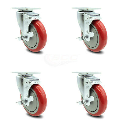 Cambro 60007 Dish Caddies Utility Truck Caster With Brake Replacement Set-scc