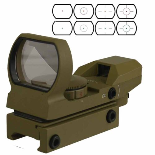 Holographic Reflex Red/Green Dot Sight 4 Reticles Tan Color